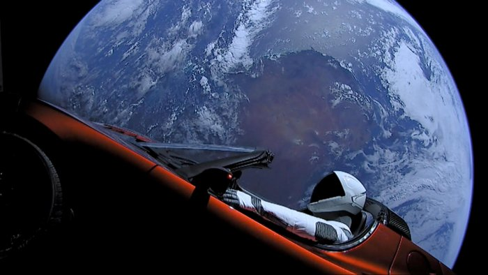 Elon Musk's car shot into space likely to collide with earth or Venus