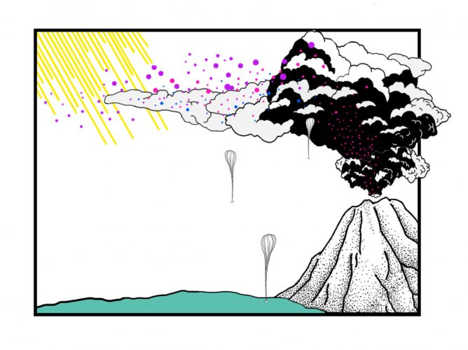 A volcanic idea for cooling the earth