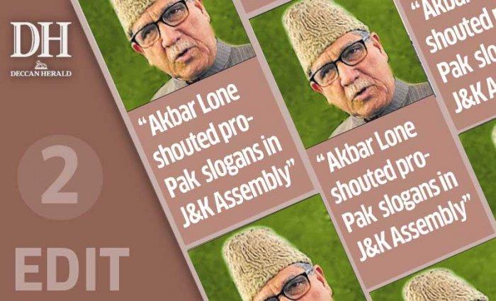 Pro-Pak slogan: act against J&K MLA
