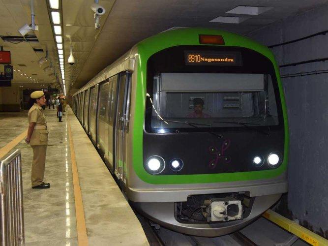 No Metro between RV Rd, Yelachenahalli stns on Sat, Sun