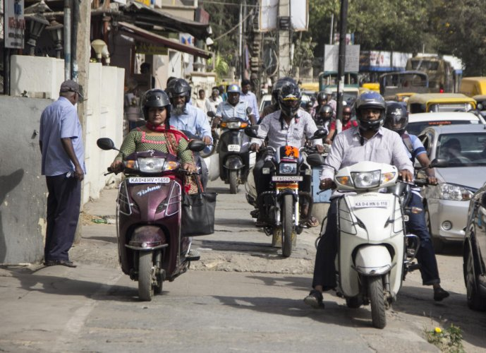 Bikers on footpaths: They just don't care