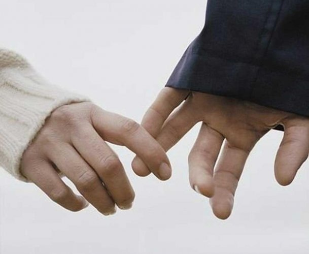 Holding hands can sync brainwaves, ease pain: study
