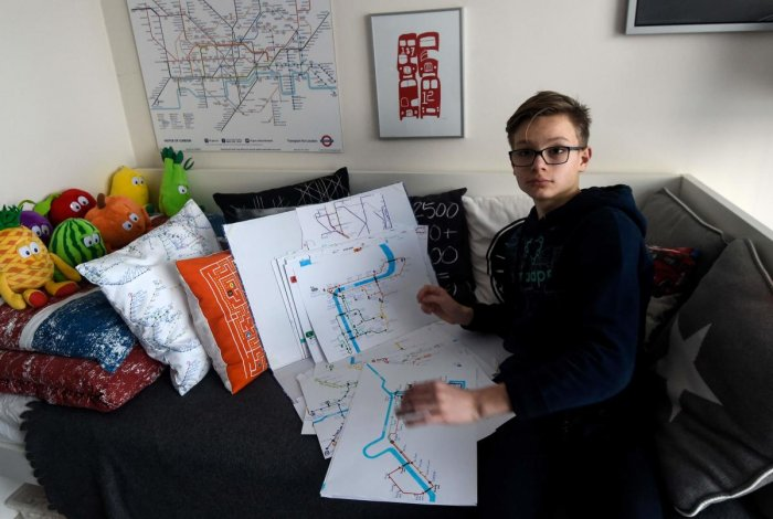 Boy maps his life from disabled to designer
