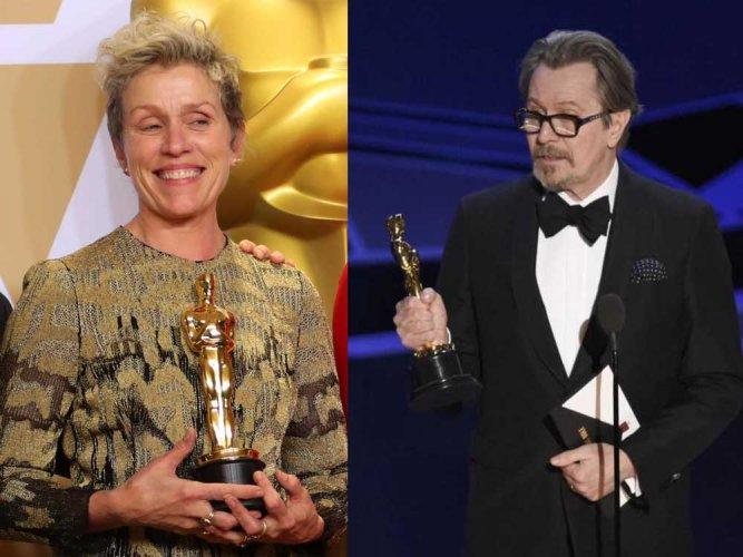 Oscars: Frances McDormand and Gary Oldman best actors
