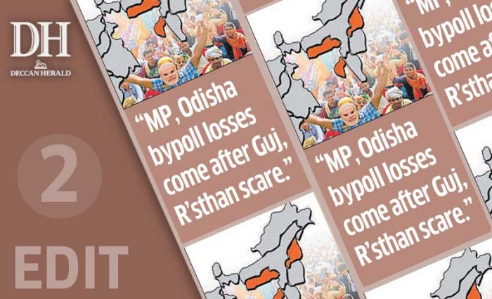 Bypolls show BJP slipping in bastions