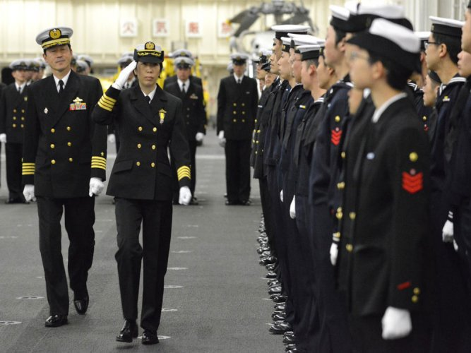 Japan navy appoints first female chief of warship unit