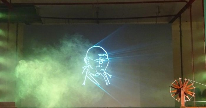 Light and sound show on Gandhiji enthrals audience