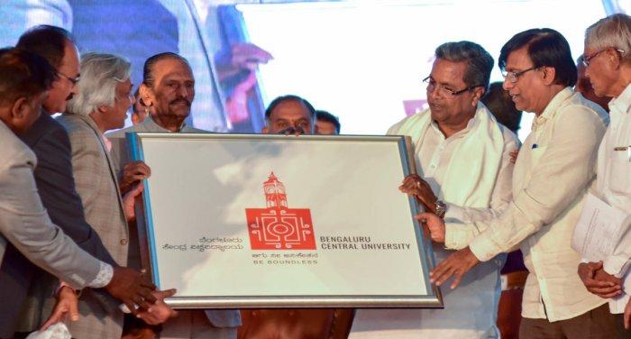Kuvempu's Vishwamanava Sandesha in BCU Logo