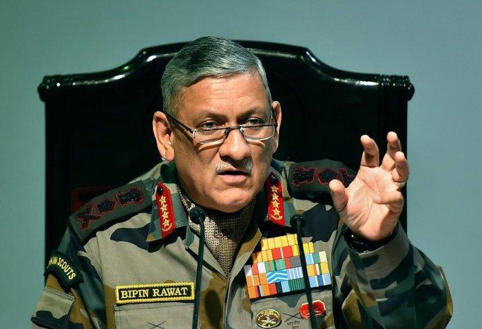 Ceasing of hostilities between India, Pak must be on Indian terms: Rawat