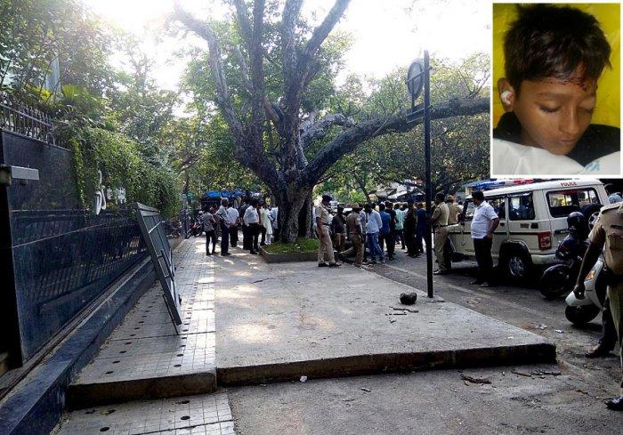 Boy dies as sliding gate falls on him