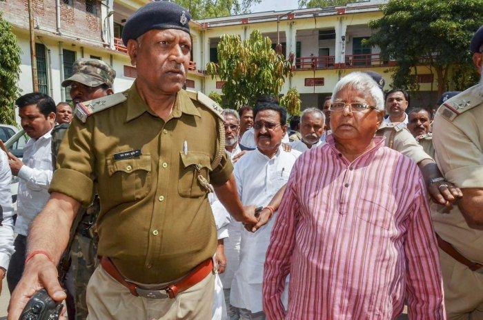 FIR against Lalu: Congress accuses BJP of political vendetta against rivals