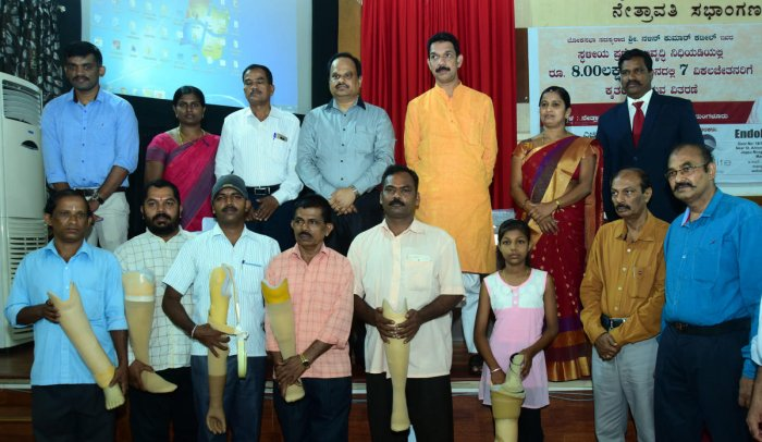 Prosthetic limbs worth Rs 8.29L distributed under MPLAD funds