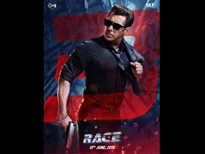 Salman Khan unveils 'Race 3' character poster