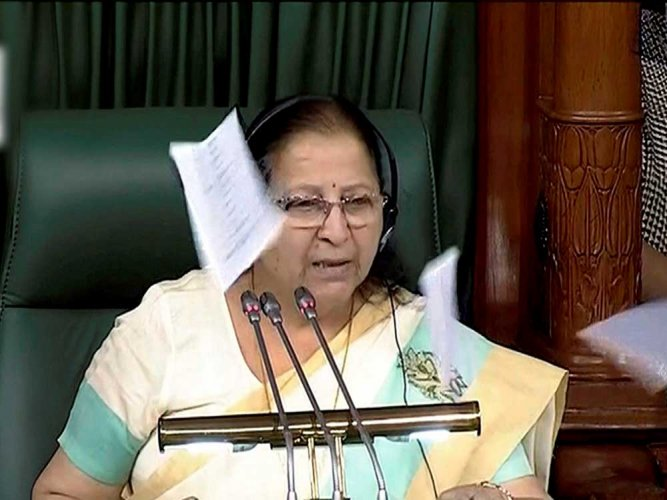 LS Speaker slams Opposition calls their protest as 'insensitive politics'
