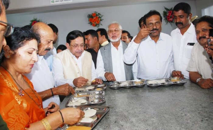 Indira Canteen opened on Madikeri Race Course Road