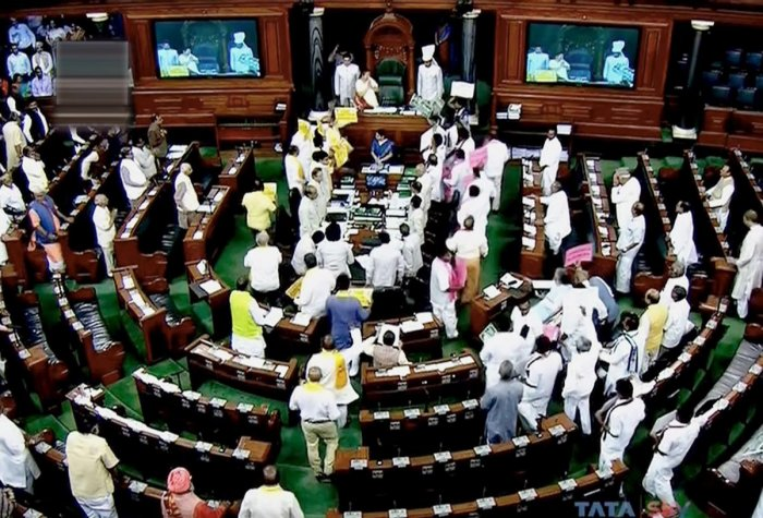 Lok Sabha adjourns till noon amid protests