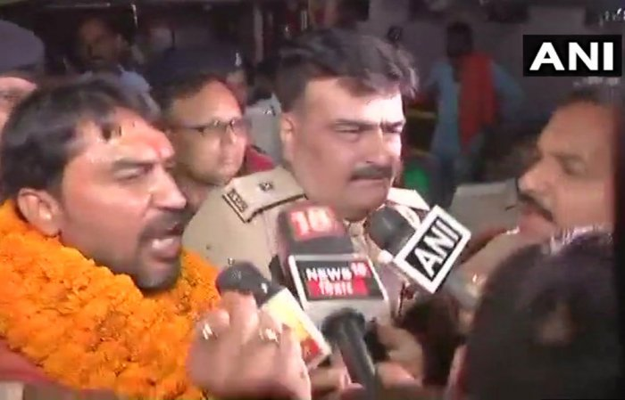 Riot accused union minister's son arrested in Patna