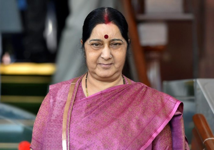 Sushma arrives in Baku to attend NAM mseet