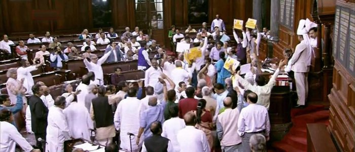 Rajya Sabha witnesses adjournments; fails to pass anti-graft bill