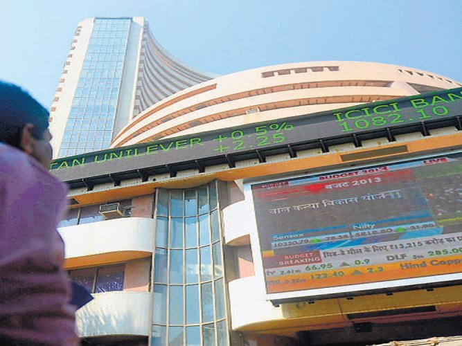Sensex rallies nearly 400 points, Nifty above 10,250-mark