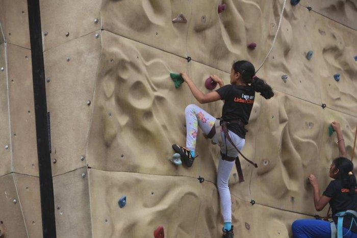 Indoor rock climbing is city's new fitness activity