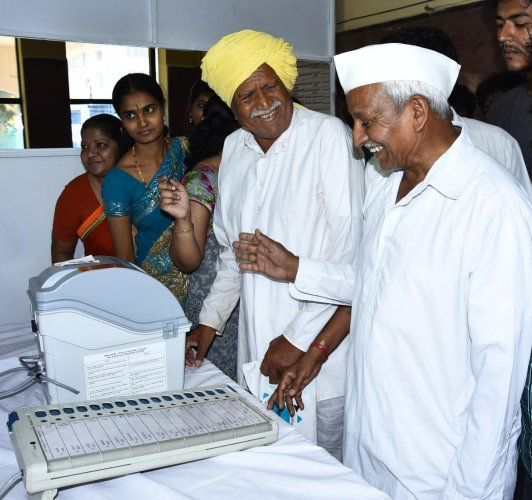 Polling demo centre opened in Hubballi