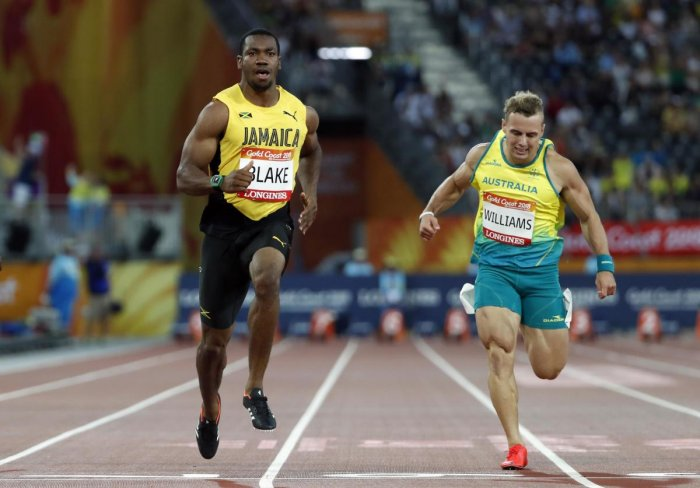 Blake qualifies fastest for 100M final