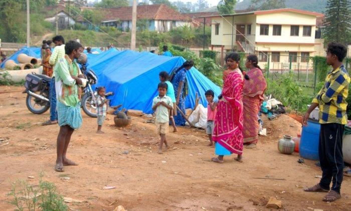 Migrant labourers live in poor conditions in Madikeri