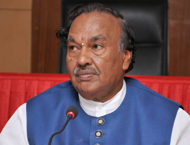 Eshwarappa to file nomination on April 19