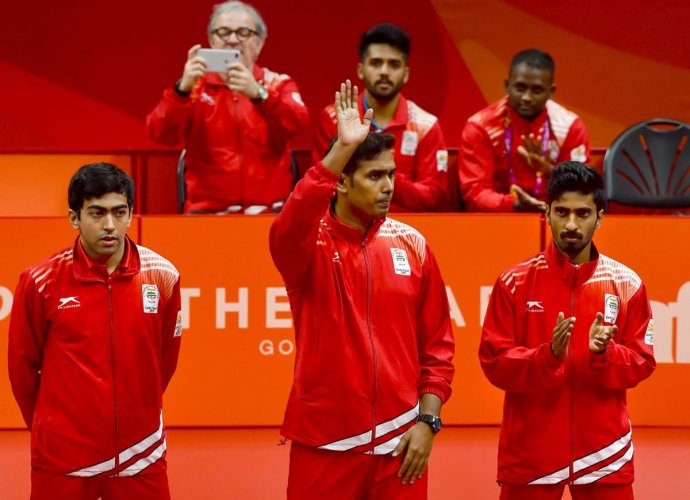 India sweeps Table Tennis team event at CWG after men beat Nigeria for gold