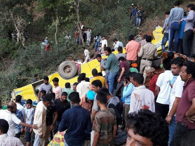 Himachal Pradesh: At least 17 killed as school bus plunges off mountain road
