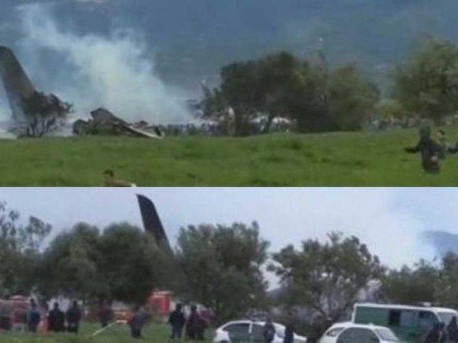 At least 100 killed in military plane crash in Algeria