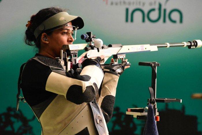 Tejaswini bags silver in women's 50m rifle prone