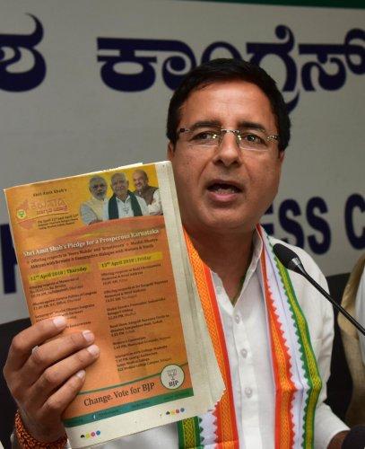 Surjewala: Defeat in K'taka will herald BJP's 'vanvaas'