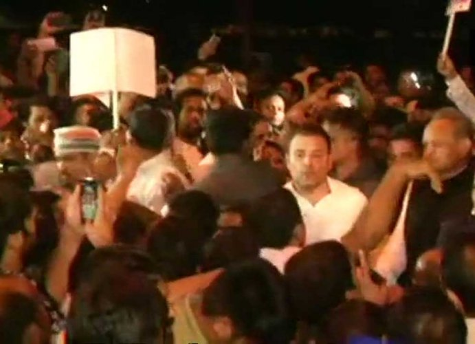Rahul Gandhi leads midnight candlelight march over Unnao, Kathua rape cases
