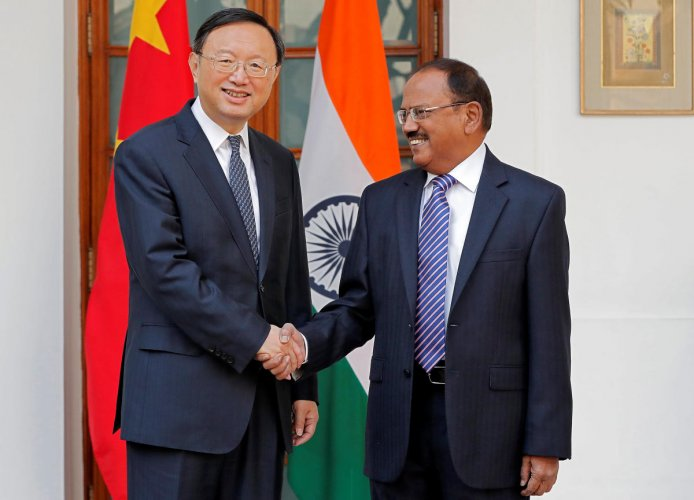 Doval holds talks with China's top CPC official