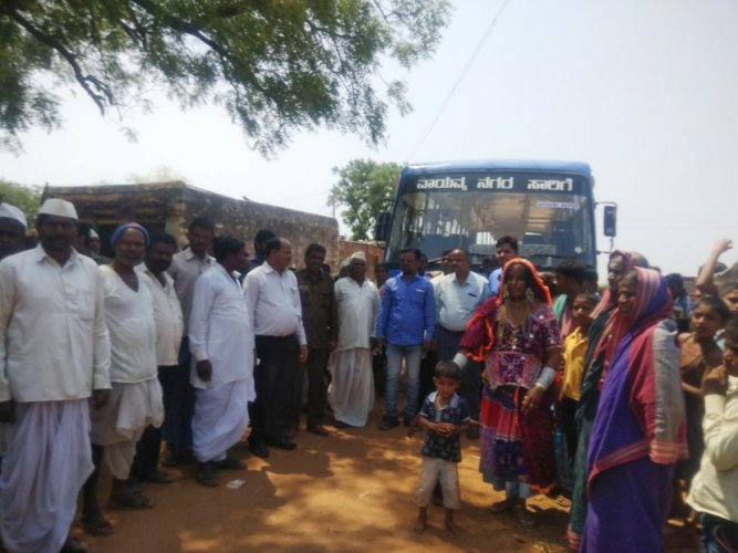 Finally, bus arrives at Ananthagiri bus stop
