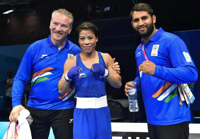 Mary Kom claims gold on CWG debut