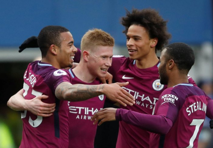 IRRESISTIBLE FORCE Having secured the Premier League title with five games to spare, Manchester City now want to beremembered as of the greatest sides in modern times. REUTERS