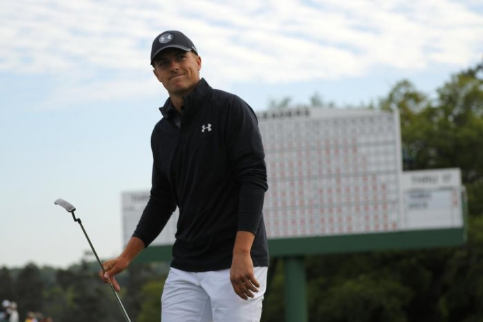 ALWAYS IN THE RACE: Jordan Spieth of the US proved that he is a big match player at the Augusta Masters. (REUTERS)