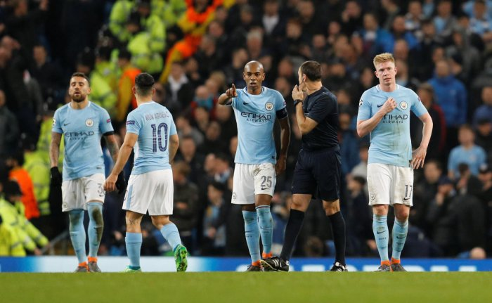 WILTING UNDER PRESSURE: Manchester City's inability to progress in the Champions League shows they are not a perfect side. (REUTERS)