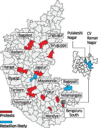 Karnataka Election 2018 Rebel constituency