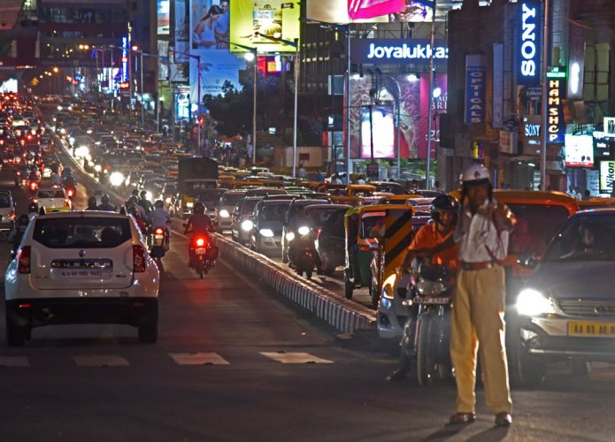 In a city bursting at the seams, with its traffic choc a bloc, it's the horns that herald the day rather than the cock a doodle doo, and that rock you to sleep long after the city retires. There's no escaping it.  DH file photo