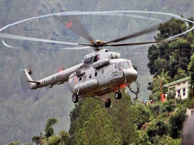Troops and artillery guns were shifted from Hailong to Walong in Arunachal Pradesh using heavy-lift helicopters as a part of Exercise Gagan Shakti 2018. (PTI file photo)