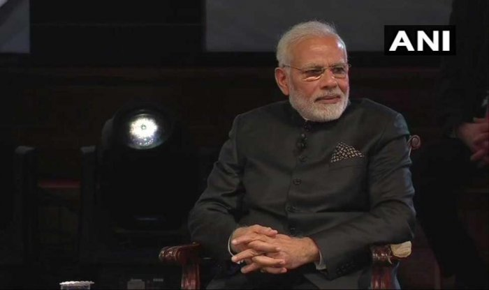 """In a warning to Pakistan, Prime Minister Narendra Modi today asserted that India will not tolerate those who like to export terror and will give back """"strong answers"""", as he referred to the 2016 surgical strikes conducted across the LoC. Picture courtesy ANI"""
