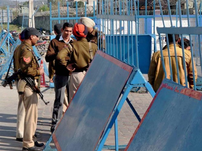 Security was tightened near the Pathankot air force base.