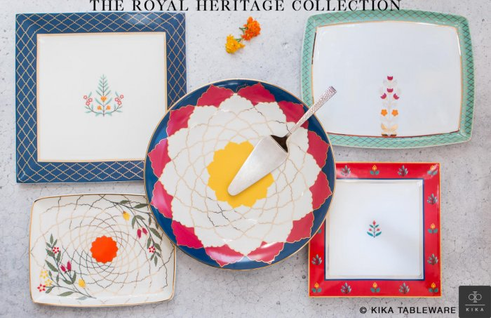 Invest in tableware with bold designs and vibrant colours to enhance the tablescape.