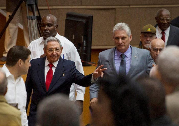 Diaz-Canel was elected in a landmark vote of the National Assembly a day before his 58th birthday.