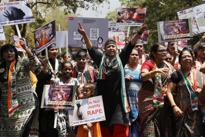 The gang-rape and murder of an eight-year-old girl in Kashmir state and the arrest of a ruling party legislator for the rape of a teenage mother in Uttar Pradesh province have sparked nationwide outrage.