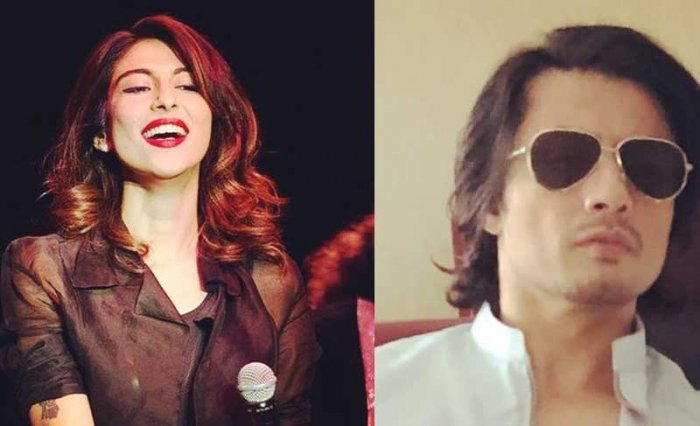 In picture: Pak singer actor Meera Shafi (L) and bollywood signer and actor Ali Zafar.  Photo via Twitter.